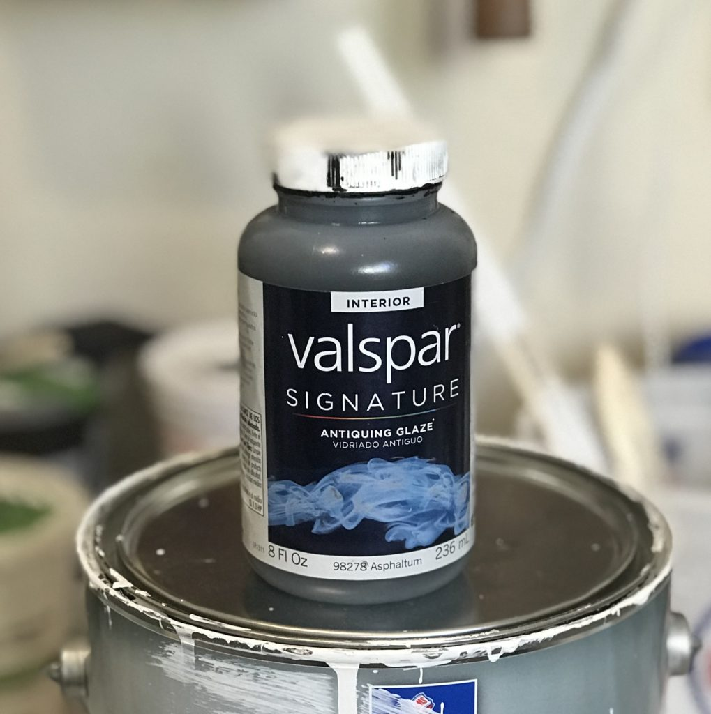 Valspar Glaze in Asphaltum is just what my cabinets needed to get that beautiful French Country flair!