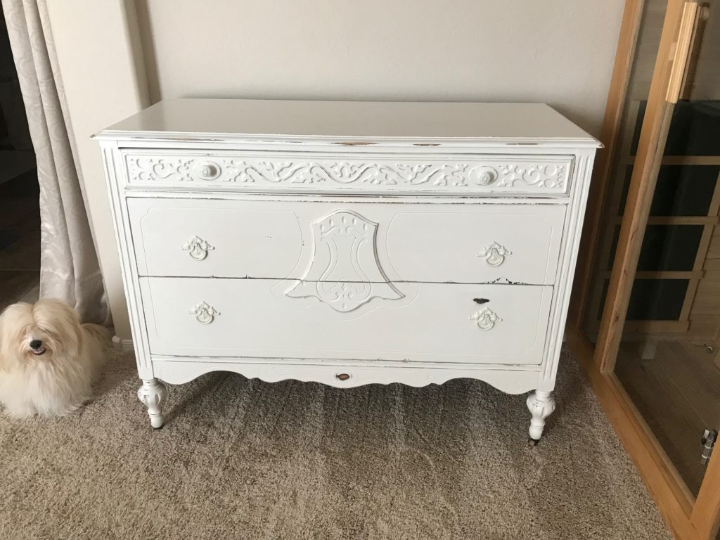 Vintage Dresser Makeover is nearly complete.